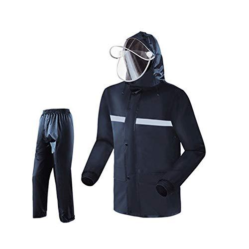 Navy suit XXXXL WSWJJXB Imperméable imperméable Fendu Costume imperméable Pantalon de Pluie imperméable Unisexe