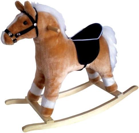チャーム会社Horse Rocker、ブロンドwithホワイトたてがみと尾ブロンドとホワイト