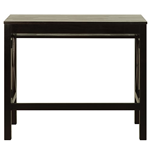 Casual Home Montego Folding Desk with Pull-Out Tray-Espresso