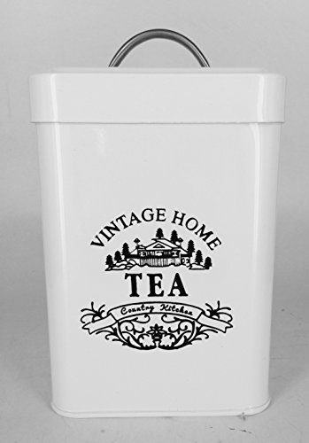 Tea Vintage Home Canister Jar Sealed Lid Country Kitchen