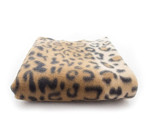 "lovemyfabric 58""X70"" Super Soft Leopard Stripes Print Fleece Light Weight Blanket Couch/Sofa/Travel Throw-Brown"