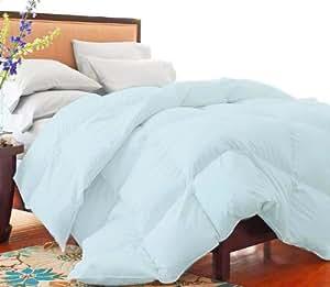 MARRIKAS Microfiber Down Blend Comforter KING BLUE