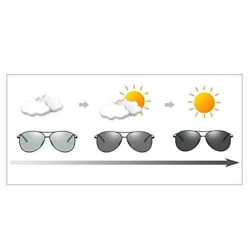 sol sol cambiables de polarizadas conducción Lentes Gafas de Gafas para Gafas hombres de 8011 negro colores de SgfH5xn