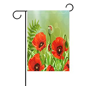 "PersonalizedShop Seasonal Garden Flag,Beach Chair Umbrella Art 12"" x 18"" Double Sided Weatherproof Polyester Outdoor Home Flag"