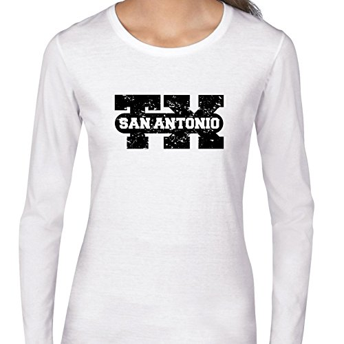 San Antonio, Texas TX Classic City State Sign Women's Long Sleeve T-Shirt -