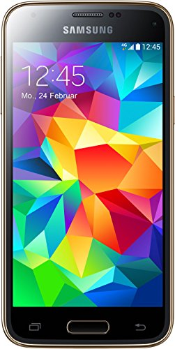 Samsung Galaxy S5 Mini G800F 16GB 4G LTE Unlocked GSM Android Quad-Core Smartphone - Gold (Unlocked Samsung 4 Mini)