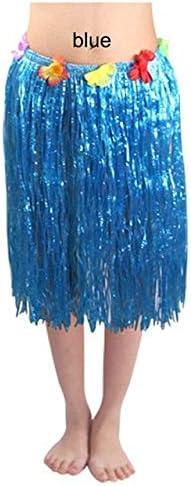 ShineBear - Falda Hawaiana de plástico para niña de 30/40/60/80 cm ...