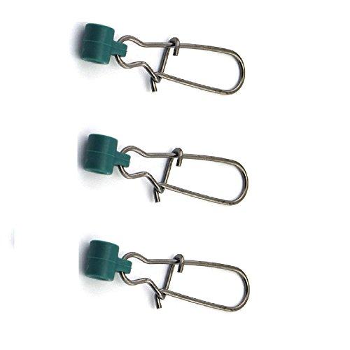 Sinker Snap (zenrick 25 Packs Fishing Line Sinker Slide With Duo lock Snap Size 8# (25 Pieces))