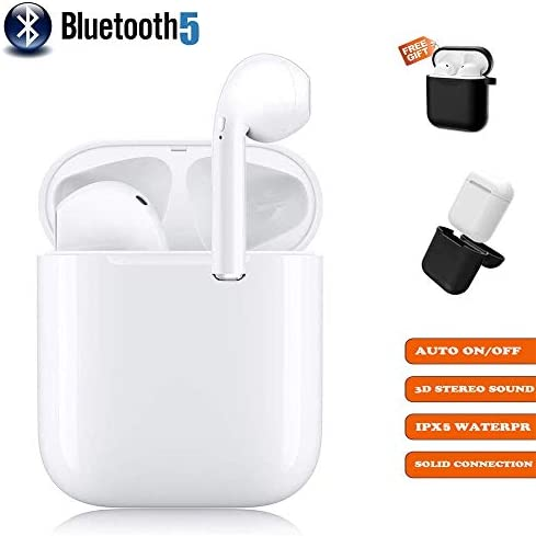 Wireless Earbuds Bluetooth 5.0 Bluetooth Headphone 3D Stereo Noise Reduction 24Hrs Charging Case Wireless Sports Headset IPX5 Waterproof Pop-ups Auto Pairing for iOS Android Samsung