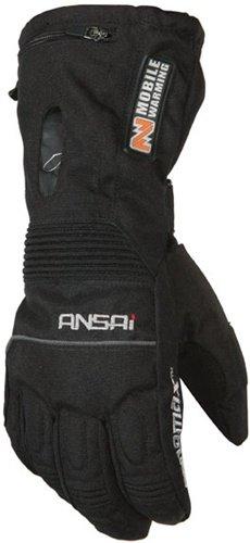 Mobile Warming TX Glove Women's Heated Textile Motorcycle Glove (Black, Medium)