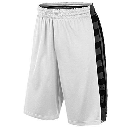 f24b000c7f2 Nike Men s Dri-Fit Elite Fanatical Basketball Shorts-White Black-Large