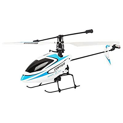 4CH 2.4GHz Mini Radio Single Propeller RC Helicopter Gyro V911 RTF White&Blue