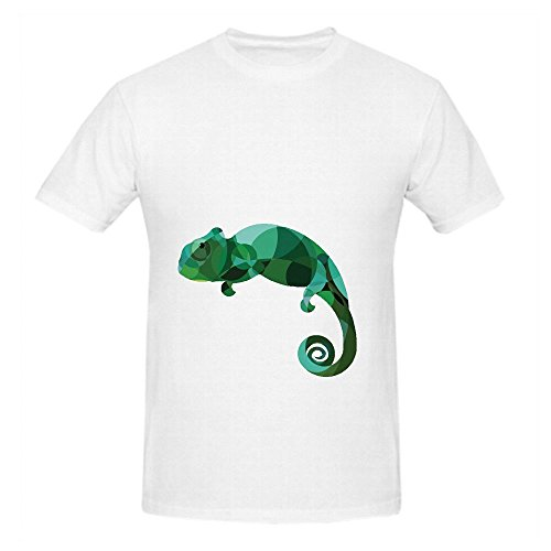 Lizard Cartoon Mens Crew Neck Design Shirt (Western Prom Themes)