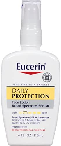 Eucerin Daily Protection Broad Spectrum SPF 30 Sunscreen Moisturizing Face Lotion 4 Fluid Ounce