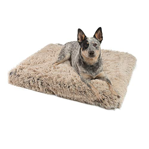 Best Friends by Sheri Nap Mat with CertiPUR Orthopedic High-Density Foam Shag 27x36x2.5, Zippered Shell, Machine Washable (Taupe)