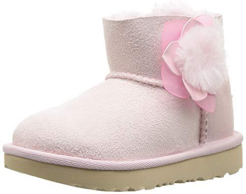 UGG Girls' T Mini Bailey II Cactus Flower Fashion Boot, Seashell Pink, 12 M US Little Kid
