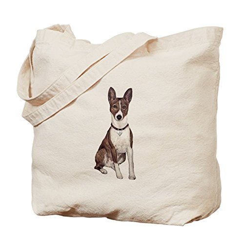CafePress - Basenji (Brindle) - Natural Canvas Tote Bag, Cloth Shopping Bag Brindle Natural