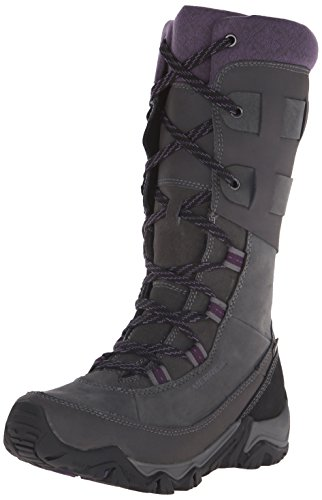 Merrell Women's Polarand Rove Peak Waterproof Boot, Granite - 9 B(M) US - Merrell Winter Boots