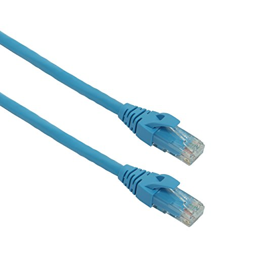 Cat5e Ethernet Patch Cable 15 feet - RJ45 connector Snagless boot UTP patch cord - Blue - Beyondtech PureGigabit Series (Awg 24 Patch Cord)