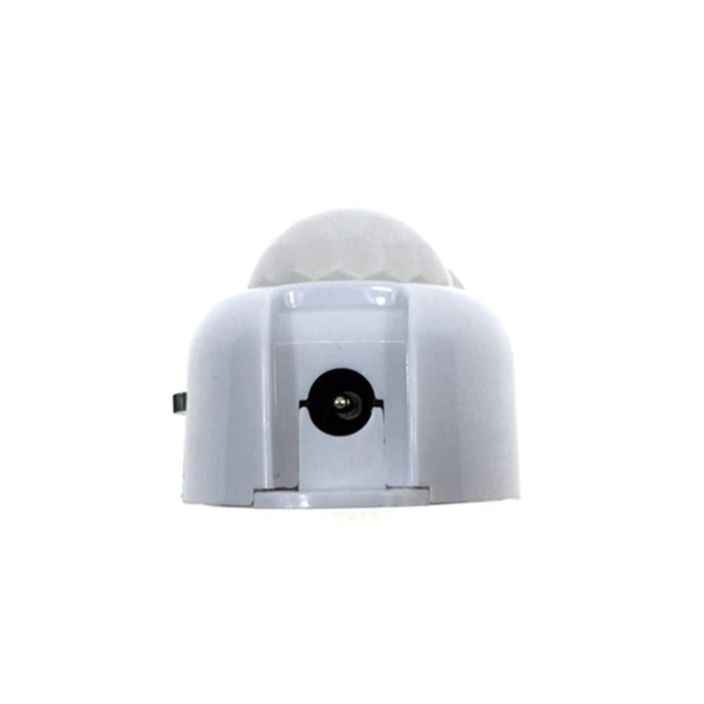 Free Size Blanco Ganquer DC5-24V Encendido y Apagado Autom/ático Interruptor Temporizador Movimiento Hogar Luz LED Uniad Sensor de Movimiento Pir