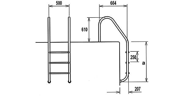 Astral-Escalera de mano 2 escalones, estándar de densidad neutra Astralpool: Amazon.es: Jardín