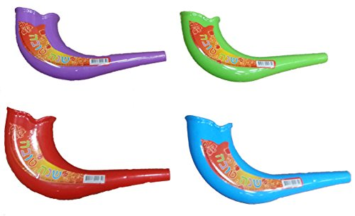 Rosh Hashanah Colorful Toy Shofars, 4-Pack
