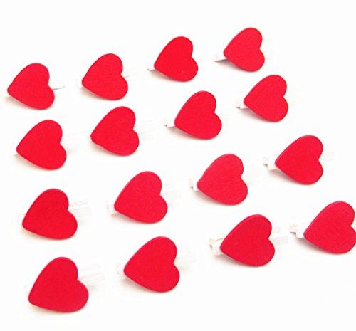 (Dandan DIY 40pcs Mini Heart-Shaped Photo/Paper Clips Clothespins Clothes Clips Photo Wall Craft Cute Love Wooden Clips (Heart-Shaped))
