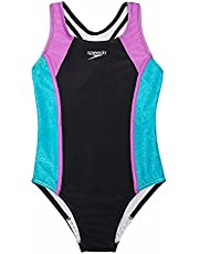 Speedo Little Girl's Thick Strap One Piece Swimsuit