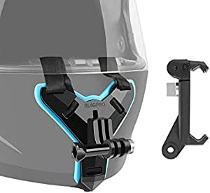 XSB Helmet Belt Mount + Phone Clamp Mount for GoPro HERO7 /6/5 /5 Session /4 Session /4/3+ /3/2 /1, Xiaoyi and Other Action Cameras