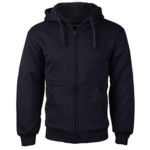 e303aeac77c vkwear Men s Athletic Soft Sherpa Lined Fleece Zip up Hoodie Sweater Jacket  (2XL