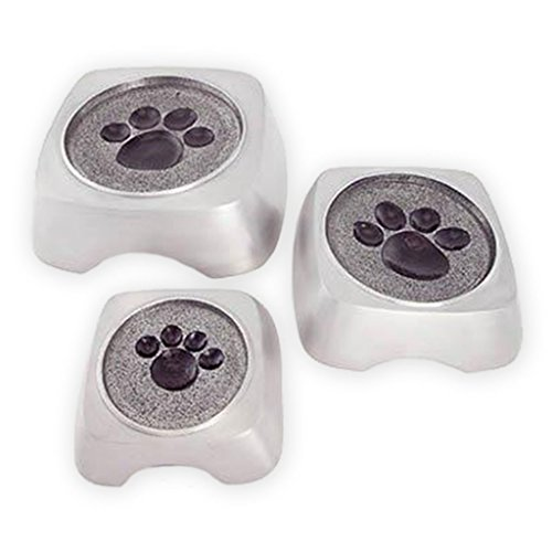 Beautiful Life Urns Pawsitive Memories Brushed Silver Large