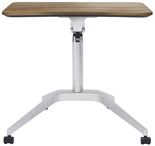 Unique Furniture 201-WAL Workpad Height Adjustable Laptop Cart Mobile Desk, with Walnut ()