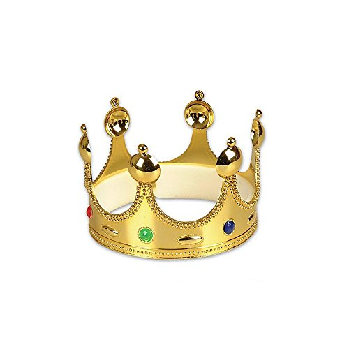 Gold Queen King Prince Crown