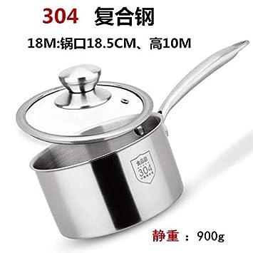 Sartenes Bandeja para leche de acero inoxidable de una manija 304 Espesar Bandeja para leche caliente Utensilios de cocina antiadherentes Leche para bebés ...