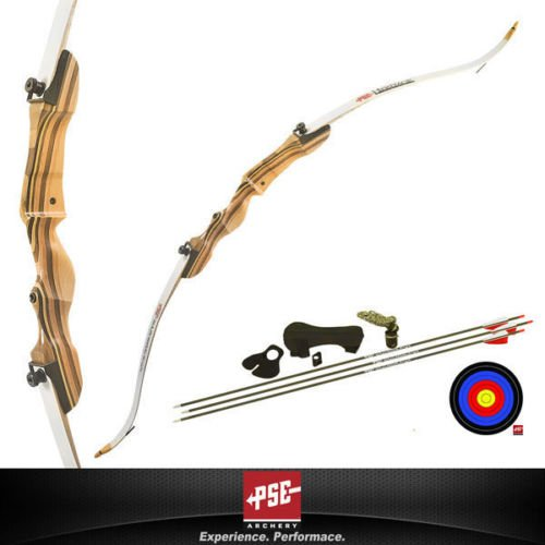 New PSE Razorback Jr Youth Take Down Recurve Full Kit 20# Le