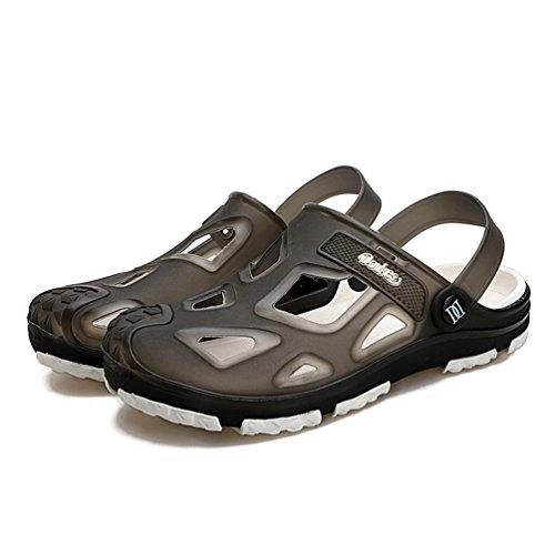Infradito40 Uomo Scarpe Traspirante Sandali da Grigio Donna Estiva Dexuntong 45 Vuoto Pantofole Spiaggia Casual UxnAAqw
