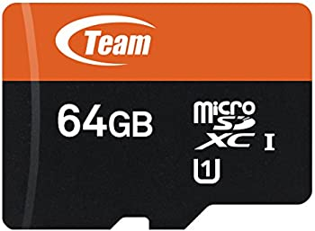 Team 64GB UHS-I/U1 Class 10 microSDXC Memory Card with Adapter