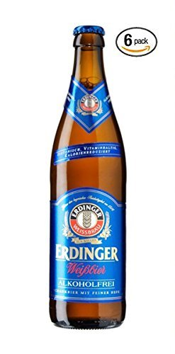 Erdinger Weissbier German Wheatbeer Non-alcoholic Beer 330ml (.33l) 6 Pack