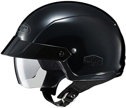HJC IS-Cruiser Motorcycle Half-Helmet (Black, Large)