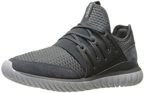 Adidas Originals Men's Shoes | Tubular Radial Fashion Sneakers, Dark Grey Heather/Dark Grey Heather/Medium Grey Heather, (10 M US)