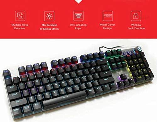 CZYNB Haute qualité Clavier mécanique e-Sport Professionnel - Gaming Keyboard mécanique 104 Clés Filaire Anti-ghosting métal rétro-éclairé for Ordinateur pc