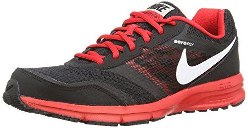 Nike Air Relentless 4 - Zapatillas para hombre Blk/White-Unvrsty Rd-Mtllc Slv
