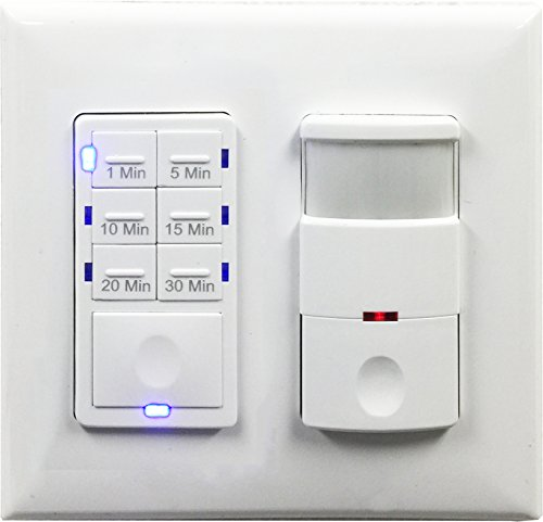 Topgreener Bathroom Fan Timer Switch And Light Sensor Switch Control 30 Minute Timer Preset