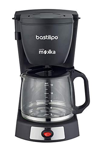 Bastilipo 6879 Cafetera Goteo, 680 W, 14 Cups, Acero Inoxidable, Negro/Plata