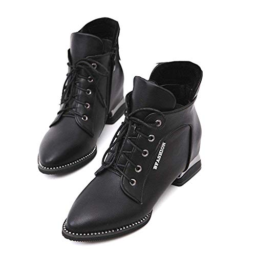 Martin Eu Con Informales Cuadradas Botas Pu Deed Estudiantes Zapatos Correas 37 Boots Cruzadas w07aqA