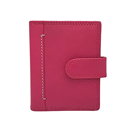J Wilson London Designer Soft Genuine Leather Credit Card Holder Wallet with Plastic Sleeves RFID Safe Contactless Blocking ID Protection 16 Clear Plastic Pockets – 4 Further Card (Pink) 41YfJ 2BxR3 2BL