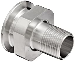 Dixon 21MP-G15075 Stainless Steel 304 Sanitary Fitting, Clamp Adapter, 1-1/2\
