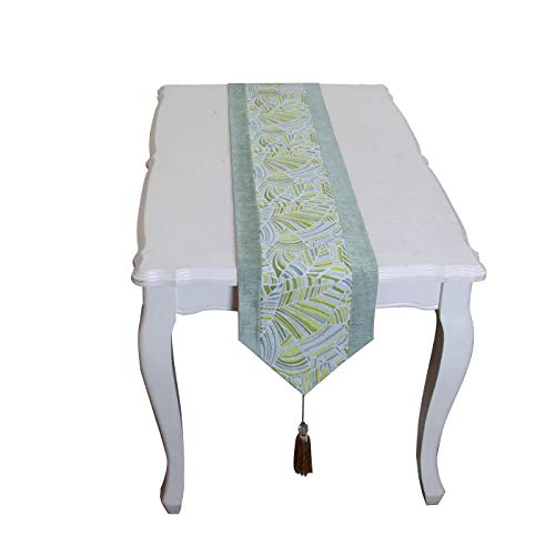 Of Oz Wedding Wizard - The Wonderful Wizard of Oz Chenille Jacquard Table Runner Tea Table Wedding Banquet Household Decorate (11.895(in), Yellow Green)