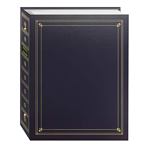 - Pioneer Photo Albums 3-Ring Bound Bay Blue Leatherette Cover with Gold Accents Photo Album for 4 by 7-Inch, 5 by 7-Inch and 8 by 10-Inch Prints