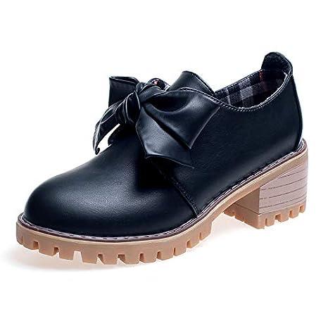 Shukun Botines Calzado de Mujer Solo Grueso con Botas de Moda de otoño Arco Viajero Martin Botas señoras Zapatos Individuales: Amazon.es: Deportes y aire ...